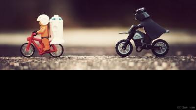 Star Wars on bike