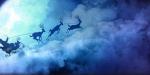 Père-Noël dans le ciel