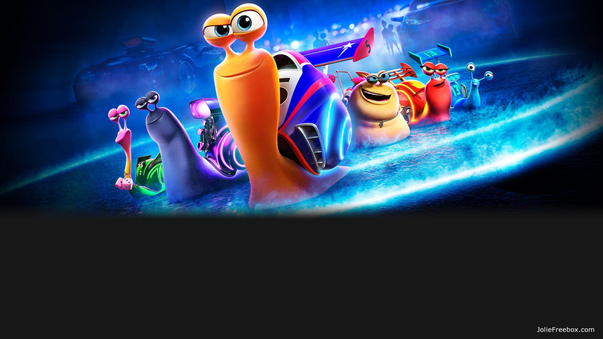 Turbo l'escargot du dessin animé DreamWorks sur votre écran d'accueil Freebox